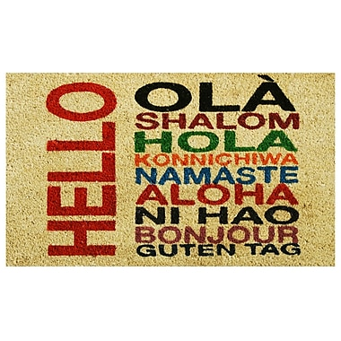 Home & More International Hello Doormat