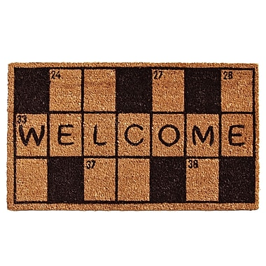 Home & More Crossword Welcome Doormat