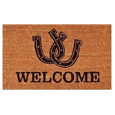 Home & More Horseshoe Welcome Doormat