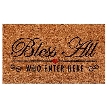 Home & More Bless All Doormat