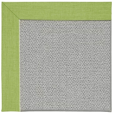 Capel Inspirit Silver Machine Tufted Green Grass/Gray Area Rug; Round 12' x 12'