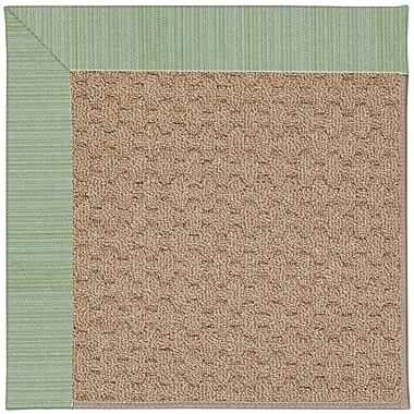 Capel Zoe Grassy Mountain Machine Tufted Green Spa/Brown Indoor/Outdoor Area Rug; Rectangle 8' x 10'