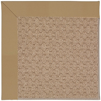 Capel Zoe Grassy Mountain Machine Tufted Light Gold and Beige Indoor/Outdoor Area Rug; Square 8'