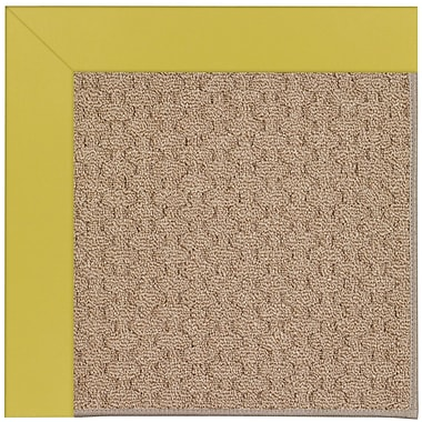 Capel Zoe Grassy Mountain Machine Tufted Citronella and Beige Indoor/Outdoor Area Rug