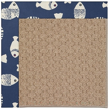 Capel Zoe Grassy Mountain Machine Tufted Pitch and Beige Indoor/Outdoor Area Rug; Rectangle 4' x 6'
