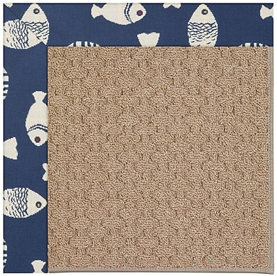 Capel Zoe Grassy Mountain Machine Tufted Pitch and Beige Indoor/Outdoor Area Rug