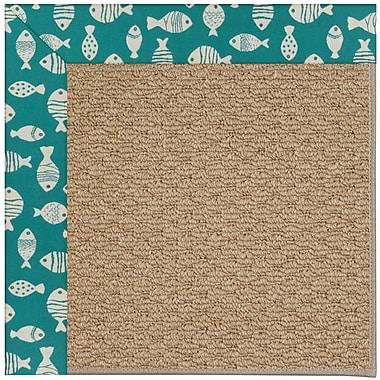 Capel Zoe Green/Brown Indoor/Outdoor Area Rug; Rectangle 7' x 9'