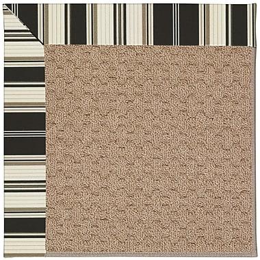 Capel Zoe Machine Tufted Onyx/Brown Indoor/Outdoor Area Rug; Rectangle 4' x 6'