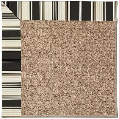 Capel Zoe Machine Tufted Onyx/Brown Indoor/Outdoor Area Rug; Rectangle 5' x 8'
