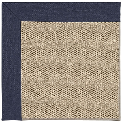 Capel Inspirit Champagne Machine Tufted Navy/Beige Area Rug; Rectangle 7' x 9'