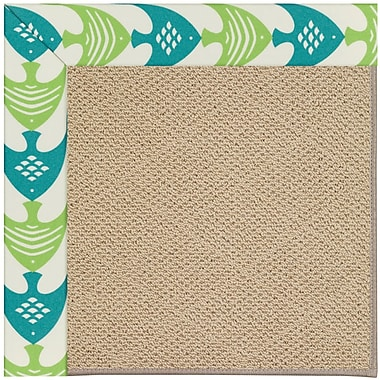 Capel Zoe Machine Tufted Angel Fish Green/Brown Indoor/Outdoor Area Rug; Rectangle 7' x 9'