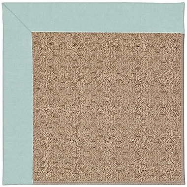 Capel Zoe Grassy Mountain Machine Tufted Iceberg/Brown Indoor/Outdoor Area Rug; Rectangle 7' x 9'