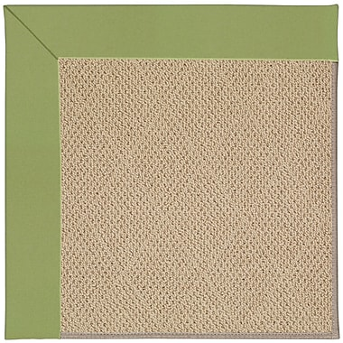 Capel Zoe Machine Tufted Green/Brown Indoor/Outdoor Area Rug; Square 4'