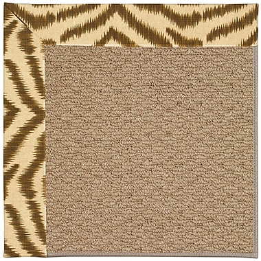 Capel Zoe Machine Tufted Tawny/Brown Indoor/Outdoor Area Rug; Square 8'