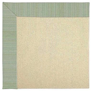 Capel Zoe Machine Tufted Green Spa Indoor/Outdoor Area Rug; Rectangle 9' x 12'