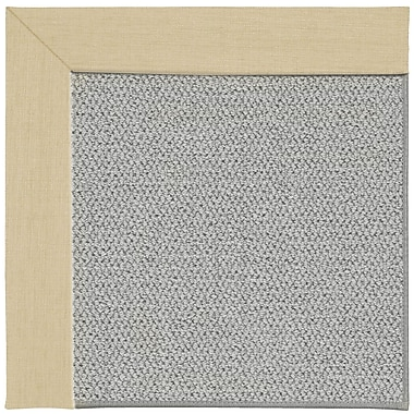 Capel Inspirit Silver Machine Tufted Ivory/Gray Area Rug; Square 4'