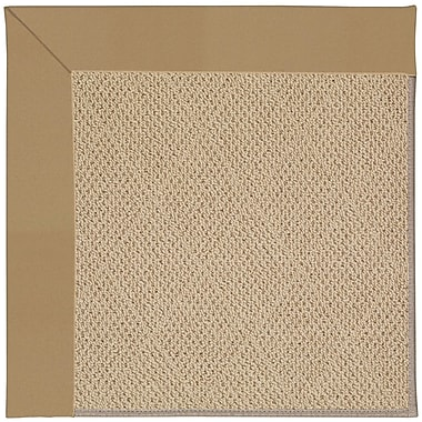 Capel Zoe Machine Tufted Light Gold Indoor/Outdoor Area Rug; Square 8'