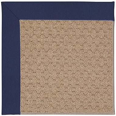 Capel Zoe Grassy Mountain Machine Tufted Navy/Brown Indoor/Outdoor Area Rug; Round 12' x 12'
