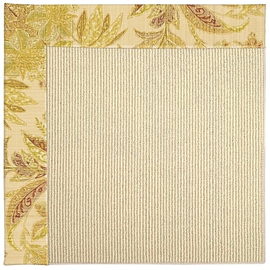 Capel Zoe Machine Tufted Tan/Beige Indoor/Outdoor Area Rug; Round 12' x 12'