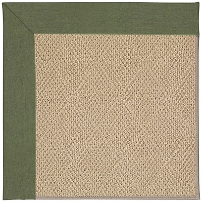 Capel Zoe Machine Tufted Plant Green and Beige Indoor/Outdoor Area Rug; Square 8'