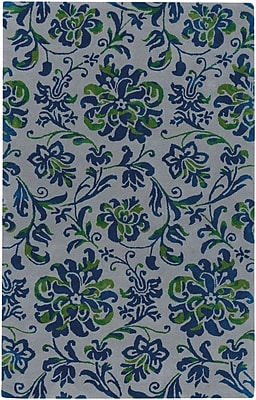 Capel Monaco Hand Tufted Nickel Navy Area Rug; 7' x 9'