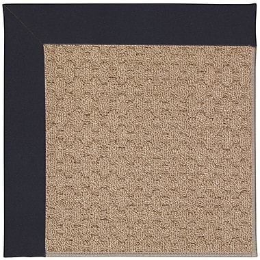 Capel Zoe Grassy Mountain Machine Tufted Dark Navy/Brown Indoor/Outdoor Area Rug; Square 4'