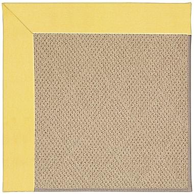 Capel Zoe Machine Tufted Yellow/Brown Indoor/Outdoor Area Rug; Round 12' x 12'