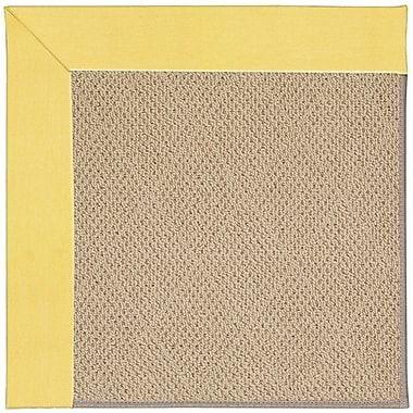 Capel Zoe Machine Tufted Yellow/Brown Indoor/Outdoor Area Rug; Square 8'
