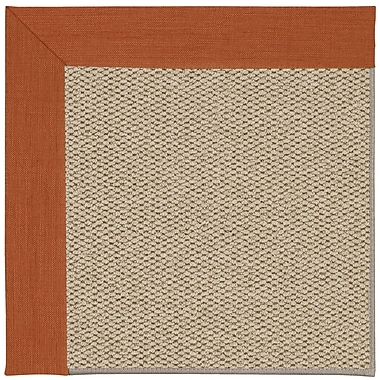 Capel Inspirit Machine Tufted Persimmon/Brown Area Rug; Rectangle 5' x 8'