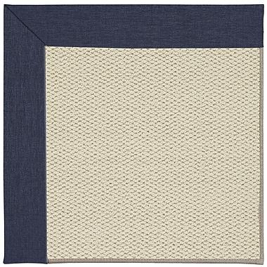 Capel Inspirit Linen Machine Tufted Navy/Brown Area Rug; Rectangle 12' x 15'