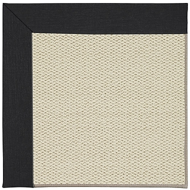 Capel Inspirit Linen Machine Tufted Ebony/Brown Area Rug; Rectangle 9' x 12'