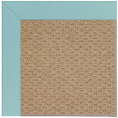 Capel Zoe Machine Tufted Seafaring Blue/Brown Indoor/Outdoor Area Rug; Square 6'