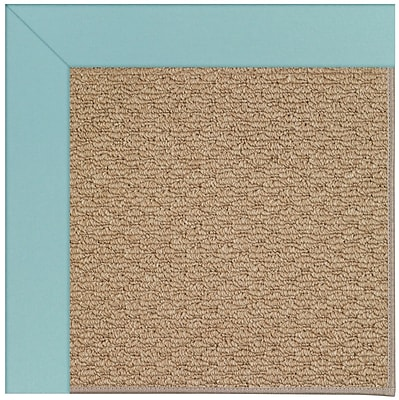 Capel Zoe Machine Tufted Seafaring Blue/Brown Indoor/Outdoor Area Rug; Rectangle 2' x 3'
