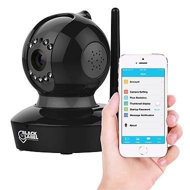 Black Label Innovations Plug & Play 1080P HD Wi-Fi Camera with Pan, Tilt, Night Vision, 2 Way Audio - Black