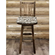 Montana Woodworks  Homestead 30'' Swivel Bar Stool; Stained & Lacquered