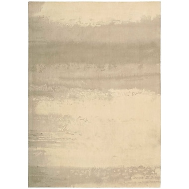 Calvin Klein Rugs Luster Wash Hand Woven Wool Dune Ivory Area Rug; Rectangle 4' x 6'