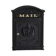 Ecco Vault Locking Wall Mounted Mailbox; Black
