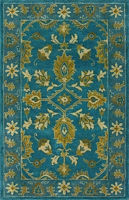 nuLOOM Overdye Turquoise Overdyed Area Rug; 5' x 8'