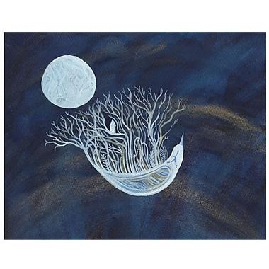 My Wonderful Walls Ethereal Bird Seeks the Moon Wall Decal; Medium