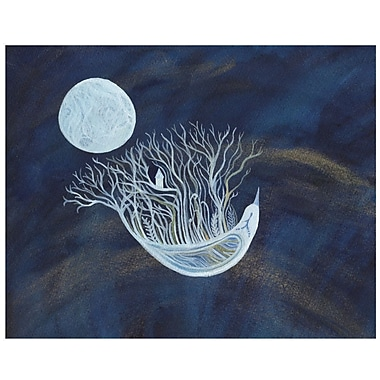 My Wonderful Walls Ethereal Bird Seeks the Moon Wall Decal; Small