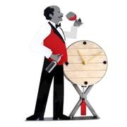H & K SCULPTURES Wine Steward Clock