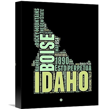 Naxart 'Idaho Word Cloud 1' Textual Art on Wrapped Canvas; 16'' H x 12'' W x 1.5'' D
