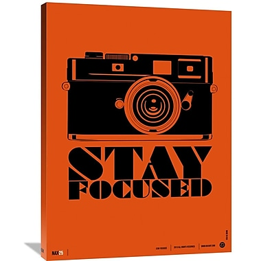 Naxart 'Stay Focused Poster' Graphic Art on Wrapped Canvas; 40'' H x 30'' W x 1.5'' D