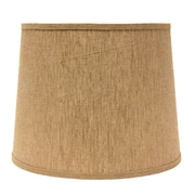 AHS Lighting 10'' Linen Drum Lamp Shade; White