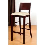 Benkel Seating Italia 30'' Bar Stool; Dark Mahogany