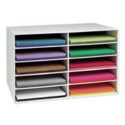 Pacon Creative Products Construction Paper Stackable 10 Compartment Shelving Unit