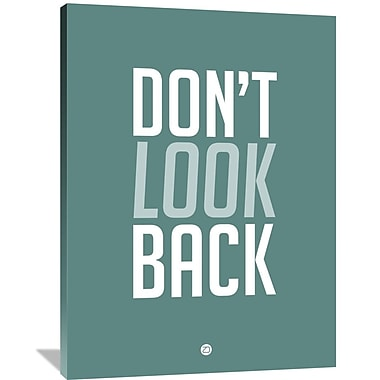 Naxart 'Don't Look Back 2' Textual Art on Wrapped Canvas; 48'' H x 36'' W x 1.5'' D