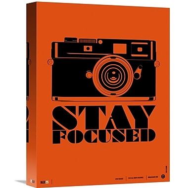 Naxart 'Stay Focused Poster' Graphic Art on Wrapped Canvas; 16'' H x 12'' W x 1.5'' D