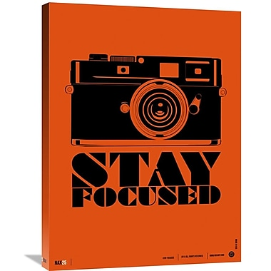 Naxart 'Stay Focused Poster' Graphic Art on Wrapped Canvas; 32'' H x 24'' W x 1.5'' D