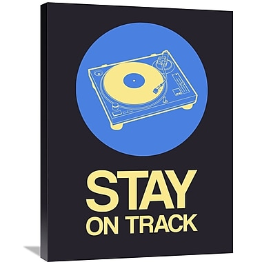 Naxart 'Stay On Track Record Player 2' Graphic Art on Wrapped Canvas; 32'' H x 24'' W x 1.5'' D